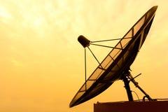 Satellite dish. On evening sky Stock Photography