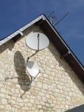 Satellite dish. Media, communication and satellite illustration royalty free stock images