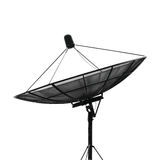 Satellite dish. For communication on white background Royalty Free Stock Images