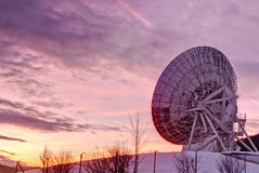 Satellite dish. At sunset.Aflenz,Austria Stock Image