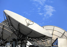 Satellite dish. With cleat blue sky stock image