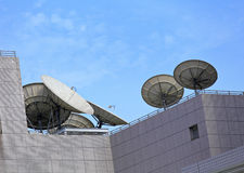 Satellite dish. With clear blue sky stock photo