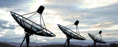 Satellite dish. Antennas under blue sky Royalty Free Stock Image