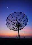 Satellite dish. At twilight bangkok thailand Royalty Free Stock Photo