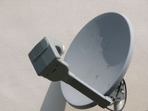 Satellite Dish. Photographed a satellite dish from a local house Royalty Free Stock Image