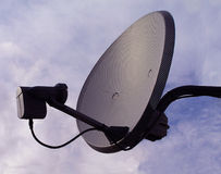Satellite Dish. Sign of modern technology Stock Photo