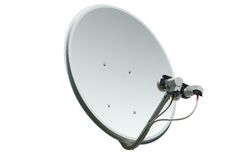Satellite dish stock photos
