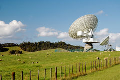 Satellite Dish. In rural farmland Stock Photography