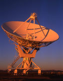 Satellite Dish. A radio telescope, part of the Very Large Array (VLA), in New Mexico Royalty Free Stock Photo