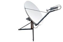 Satellite dish antenna stock image