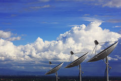 Satellite dish antenna Royalty Free Stock Images