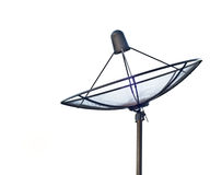 Satellite Dish Antenna. Isolated on white background Stock Images