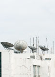 Satellite dish and antenna Stock Photography