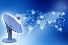 Satellite dish antenna Stock Photography