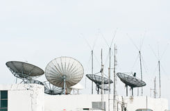 Satellite dish and antenna Royalty Free Stock Photo