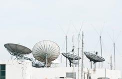 Satellite dish and antenna Royalty Free Stock Photo