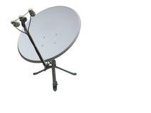 Satellite dish antenna isolated on white Royalty Free Stock Images