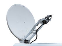Satellite dish antenna isolated on white Royalty Free Stock Photography