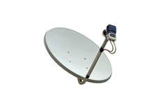 Satellite dish antenna. Isolated on white background Royalty Free Stock Images