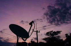 Satellite dish. Antenna media communication Royalty Free Stock Image