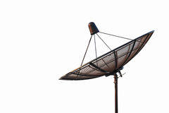 Satellite dish antenna radar isolated on white background Stock Images