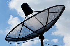 Satellite dish antennas Stock Photography