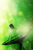 Satellite dish antennas and abstract spring Royalty Free Stock Photos