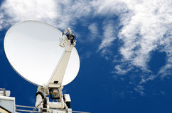 Satellite dish antennas with blue sky Royalty Free Stock Photography