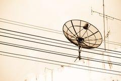 Satellite dish antennas. Pic of satellite dish antennas Stock Photos