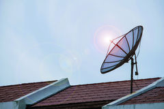 Satellite dish antennas Royalty Free Stock Photo