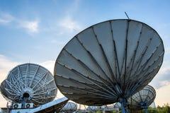 Satellite dish antennas Stock Photo
