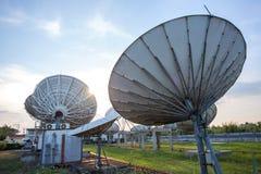 Satellite dish antennas Royalty Free Stock Images