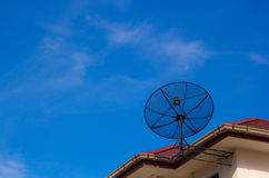 Satellite dish antennas Stock Images