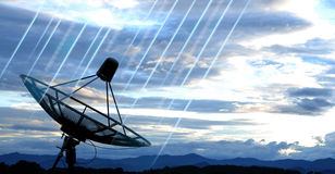 Satellite dish. Antennas under blue sky Royalty Free Stock Photography