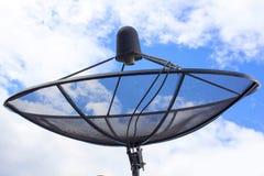 Satellite dish antennas under sky Stock Photos