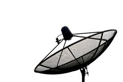 Satellite dish antennas, white background Stock Photography