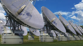Satellite dish array Royalty Free Stock Image