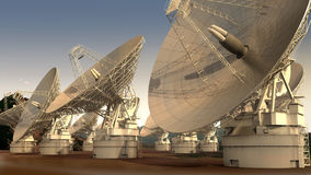 Satellite dish array Royalty Free Stock Images