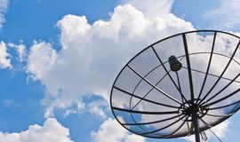 Satellite dish black Stock Photos