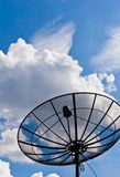 Satellite dish black Stock Photo