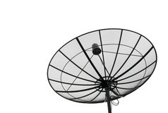 Satellite dish black isolated Royalty Free Stock Photos