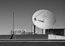Satellite Dish Black & White Stock Photos