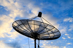 Satellite dish with blue sky. Satellite dish with clear blue sky Stock Photo