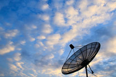 Satellite dish with blue sky Stock Photos