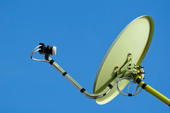 Satellite dish and blue sky Stock Photography