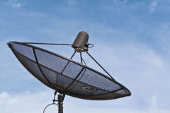 Satellite dish and blue sky Royalty Free Stock Photos