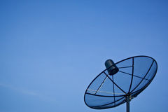 Satellite dish with the blue sky Royalty Free Stock Photo