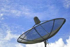 The satellite dish and blue sky Stock Image