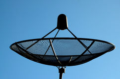 The satellite dish. In blue sky and cloud stock photo