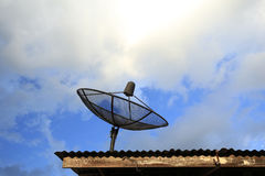 Satellite dish with blue sky Stock Photography